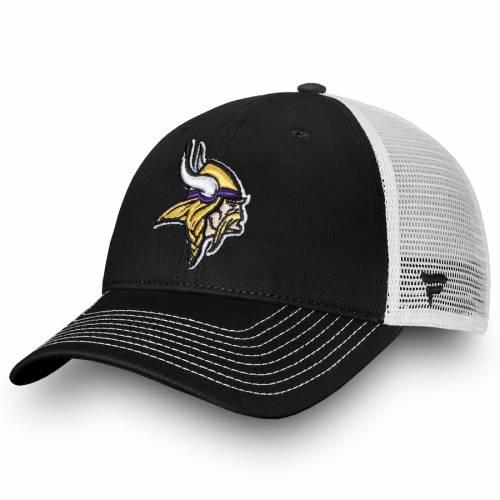 NFL PRO LINE BY FANATICS BRANDED ミネソタ バイキングス コア トラッカー スナップバック バッグ キャップ 帽子 メンズキャップ メンズ 【 Minnesota Vikings Core Trucker Iii Adjustable Snapback Hat - Black/white