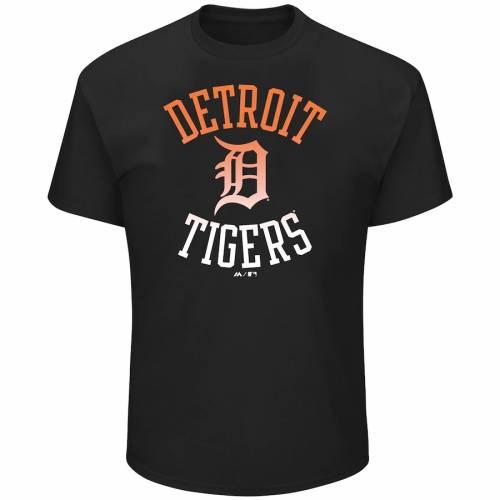 PROFILE デトロイト タイガース Tシャツ 黒 ブラック & 【 BLACK PROFILE DETROIT TIGERS BIG TALL POP TSHIRT 】 メンズファッション トップス Tシャツ カットソー