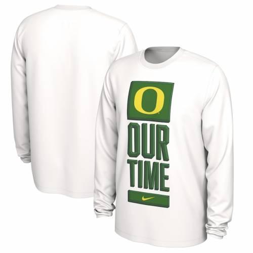 ナイキ NIKE オレゴン バスケットボール タイム レジェンド パフォーマンス スリーブ Tシャツ 白 ホワイト メンズファッション トップス カットソー メンズ 【 Oregon Ducks Basketball Our Time Be