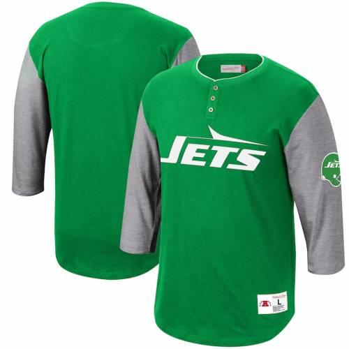 ミッチェル&ネス MITCHELL & NESS ジェッツ フランチャイズ ヘンリー Tシャツ 緑 グリーン メンズファッション トップス カットソー メンズ 【 New York Jets Mitchell And Ness Franchise Player 3/4-slee