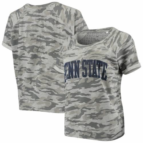 PRESSBOX スケートボード ライオンズ レディース Tシャツ レディースファッション トップス カットソー 【 Penn State Nittany Lions Womens Splash French Terry T-shirt - Camo 】 Camo