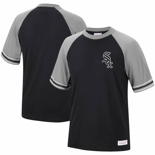 ミッチェル&ネス MITCHELL & NESS シカゴ 白 ホワイト チーム ラグラン Tシャツ 黒 ブラック メンズファッション トップス カットソー メンズ 【 Chicago White Sox Mitchell And Ness Team Captain Raglan