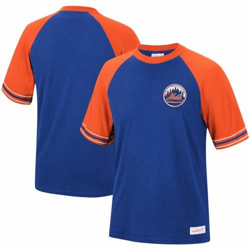 ミッチェル&ネス MITCHELL & NESS メッツ チーム ラグラン Tシャツ メンズファッション トップス カットソー メンズ 【 New York Mets Mitchell And Ness Team Captain Raglan T-shirt - Royal 】 Royal