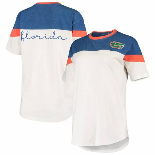 PRESSBOX フロリダ レディース Tシャツ レディースファッション トップス カットソー 【 Florida Gators Womens Blossom Colorblocked T-shirt - Royal/white 】 Royal/white