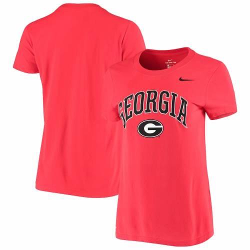 ナイキ NIKE レディース パフォーマンス Tシャツ 赤 レッド レディースファッション トップス カットソー 【 Georgia Bulldogs Womens Arch Performance T-shirt - Red 】 Red