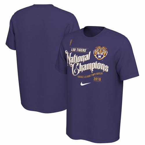 ナイキ NIKE タイガース カレッジ Tシャツ 紫 パープル メンズファッション トップス カットソー メンズ 【 Lsu Tigers College Football Playoff 2019 National Champions Celebration T-shirt - Purple 】 Purple