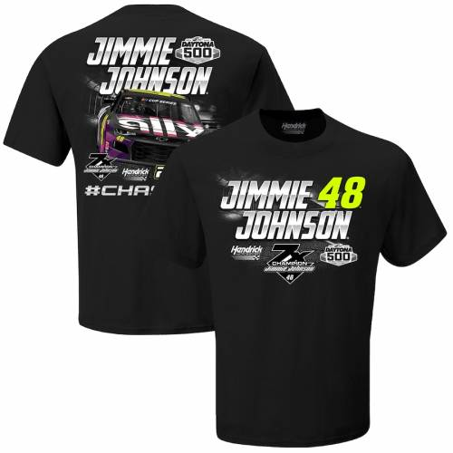 HENDRICK MOTORSPORTS TEAM COLLECTION チーム コレクション ジョンソン Tシャツ 黒 ブラック 【 TEAM BLACK HENDRICK MOTORSPORTS COLLECTION JIMMIE JOHNSON DRIVER COBRANDED TSHIRT 】 メンズファッション トップス Tシャ