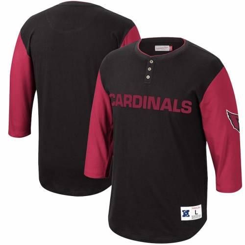 ミッチェル&ネス MITCHELL & NESS アリゾナ カーディナルス フランチャイズ ヘンリー Tシャツ 黒 ブラック メンズファッション トップス カットソー メンズ 【 Arizona Cardinals Mitchell And Ness