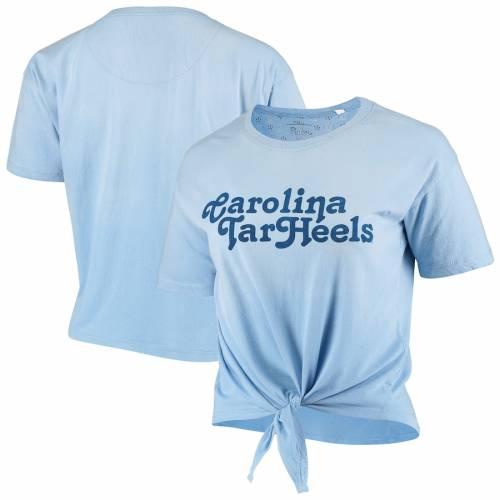 PRESSBOX ノース カロライナ レディース カリフォルニア Tシャツ 青 ブルー レディースファッション トップス カットソー 【 North Carolina Tar Heels Womens California Dreamin Ombre Tie T-shirt - Carolina Blu