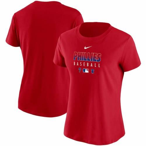 円高還元 ナイキ NIKE フィラデルフィア フィリーズ レディース オーセンティック コレクション パフォーマンス Tシャツ 赤 レッド WOMEN&39;S 【 RED NIKE AUTHENTIC COLLECTION PERFORMANCE TSHIRT 】 レディースファ, ヌマヅシ 09635454