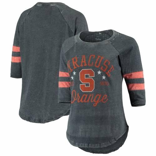 PRESSBOX シラキュース 橙 オレンジ レディース 翡翠 ジェード ビンテージ ヴィンテージ ジャージ Tシャツ レディースファッション トップス カットソー 【 Syracuse Orange Womens Jade Vintage Washe