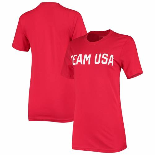 OUTERSTUFF チーム レディース Tシャツ 赤 レッド レディースファッション トップス カットソー 【 Team Usa Womens Identity T-shirt - Red 】 Red