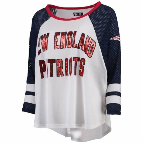 G-III 4HER BY CARL BANKS ペイトリオッツ レディース スリーブ Tシャツ 白 ホワイト レディースファッション トップス カットソー 【 New England Patriots Womens Fair Catch Three-quarter Sleeve T-shirt - White