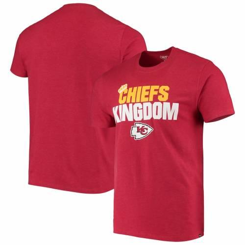 スポーツブランド カジュアル ファッション フォーティーセブン '47 カンザス シティ チーフス クラブ Tシャツ 赤 期間限定の激安セール CLUB REGIONAL CROWN 予約販売 メンズファッション トップス カンザスシティ レッド TSHIRT カットソー RED