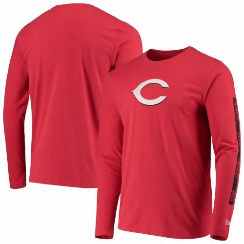 ニューエラ NEW ERA シンシナティ レッズ スリーブ Tシャツ 赤 レッド メンズファッション トップス カットソー メンズ 【 Cincinnati Reds Long Sleeve T-shirt - Red 】 Red