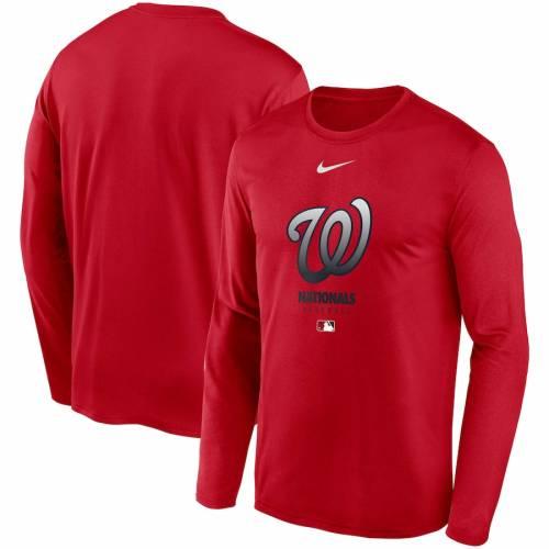 ナイキ NIKE ワシントン ナショナルズ オーセンティック コレクション レジェンド パフォーマンス スリーブ Tシャツ 赤 レッド メンズファッション トップス カットソー メンズ 【 Washingt