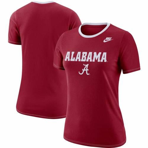ナイキ NIKE アラバマ レディース パフォーマンス Tシャツ 灰色 グレー グレイ レディースファッション トップス カットソー 【 Alabama Crimson Tide Womens Ringer Performance T-shirt - Heathered Gray 】 C