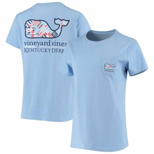 VINEYARD VINES ケンタッキー レディース Tシャツ 青 ブルー レディースファッション トップス カットソー 【 Kentucky Derby 146 Womens Silks Whale Fill T-shirt - Light Blue 】 Light Blue
