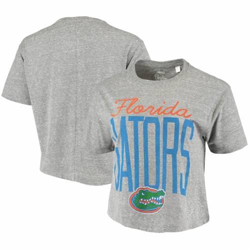 PRESSBOX フロリダ レディース クロップ Tシャツ 灰色 グレー グレイ レディースファッション トップス カットソー 【 Florida Gators Womens Sanibel Knobi Crop T-shirt - Heathered Gray 】 Heathered Gray