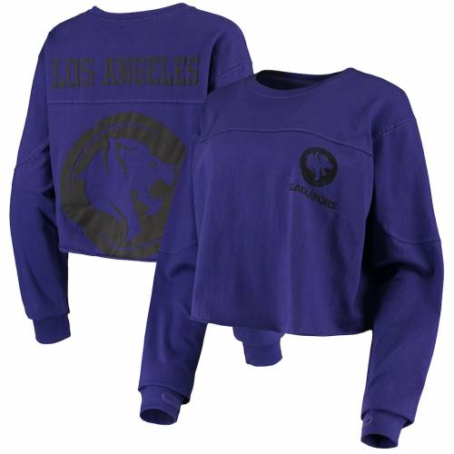 G-III 4HER BY CARL BANKS レディース スリーブ Tシャツ 紫 パープル レディースファッション トップス カットソー 【 Los Angeles Gladiators Womens Spirit Long Sleeve T-shirt - Purple 】 Purple