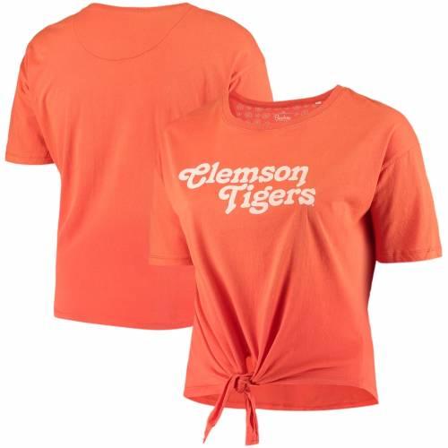 PRESSBOX タイガース レディース カリフォルニア Tシャツ 橙 オレンジ レディースファッション トップス カットソー 【 Clemson Tigers Womens Plus Size California Dreamin Ombre Tie T-shirt - Orange 】 Orange