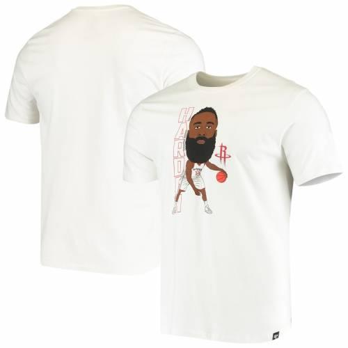 '47 ジェームズ ハーデン ヒューストン ロケッツ Tシャツ 白 ホワイト メンズファッション トップス カットソー メンズ 【 James Harden Houston Rockets Bobblehead Player T-shirt - White 】 White