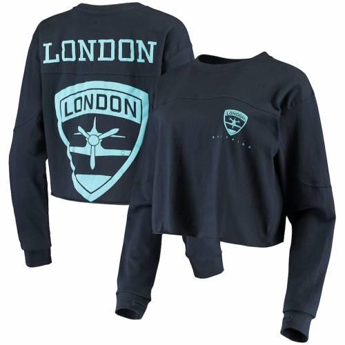 G-III 4HER BY CARL BANKS レディース スリーブ Tシャツ 紺 ネイビー レディースファッション トップス カットソー 【 London Spitfire Womens Spirit Long Sleeve T-shirt - Navy 】 Navy