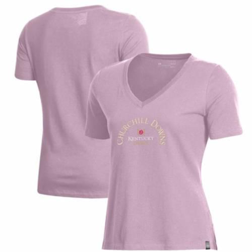 【あすつく】 アンダーアーマー UNDER ARMOUR ケンタッキー レディース Vネック Tシャツ ピンク WOMEN&39;S 【 PINK UNDER ARMOUR KENTUCKY DERBY VNECK TSHIRT 】 レディースファッション トップス Tシャツ カットソー, citygirl c657e185