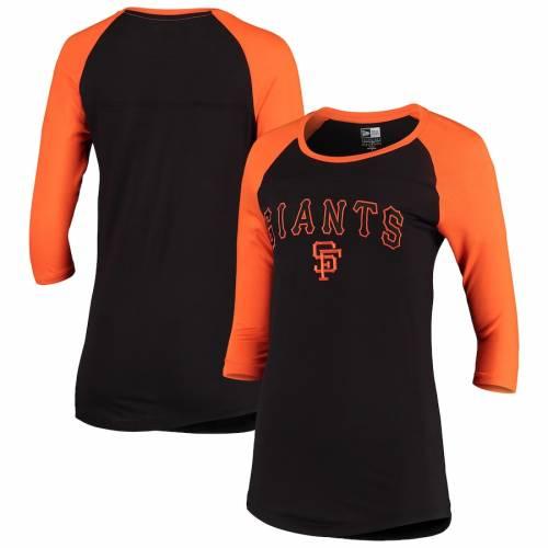 ニューエラ NEW ERA ジャイアンツ レディース クーパーズタウン コレクション Tシャツ 黒 ブラック レディースファッション トップス カットソー 【 San Francisco Giants Womens Cooperstown Collection