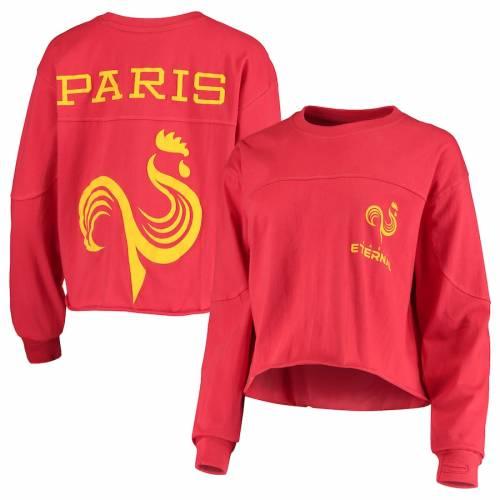 G-III 4HER BY CARL BANKS レディース スリーブ Tシャツ ワイン色 バーガンディー レディースファッション トップス カットソー 【 Paris Eternal Womens Spirit Long Sleeve T-shirt - Burgundy 】 Burgundy