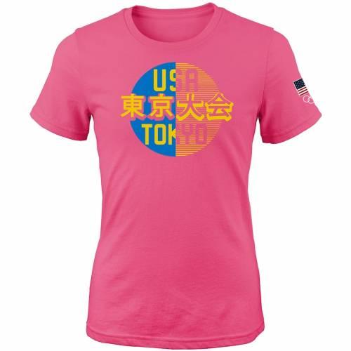 OUTERSTUFF チーム レディース サマー Tシャツ ピンク レディースファッション トップス カットソー 【 Team Usa Womens 2020 Summer Olympics Hemisphere T-shirt - Pink 】 Pink