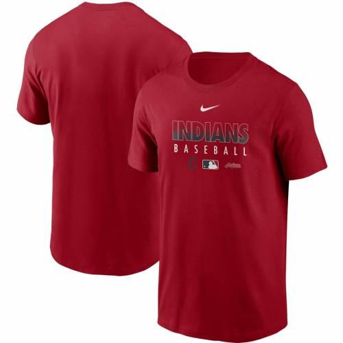 ナイキ NIKE クリーブランド インディアンズ オーセンティック コレクション チーム パフォーマンス Tシャツ 赤 レッド 【 TEAM RED NIKE CLEVELAND INDIANS AUTHENTIC COLLECTION PERFORMANCE TSHIRT 】 メンズ