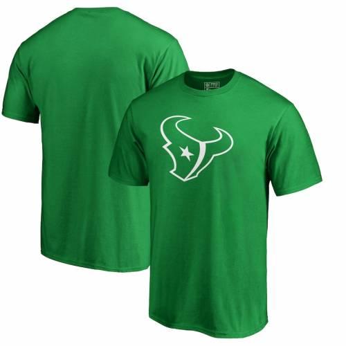 スポーツブランド カジュアル ファッション ファナティクス FANATICS BRANDED ヒューストン テキサンズ 白色 ホワイト ロゴ Tシャツ グリーン TSHIRT GREEN DAY メンズファッション メーカー在庫限り品 PATRICK'S ST. LOGO 美品 緑 トップス WHITE