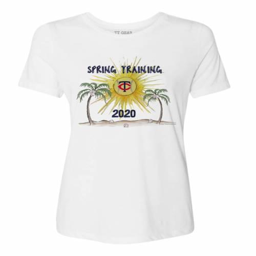 TINY TURNIP ミネソタ ツインズ レディース スプリング トレーニング Tシャツ 白 ホワイト レディースファッション トップス カットソー 【 Minnesota Twins Womens 2020 Spring Training T-shirt - White 】