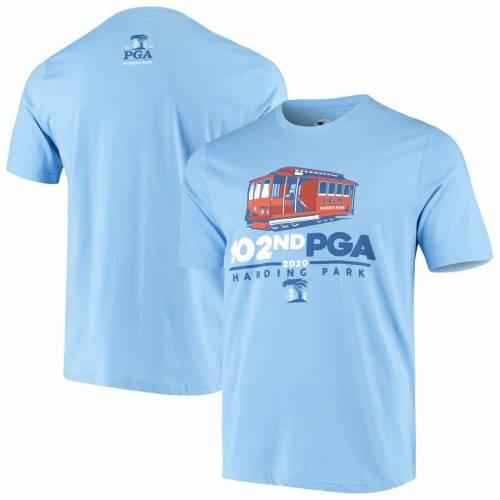 AHEAD Tシャツ 青 ブルー 【 BLUE AHEAD 2020 PGA CHAMPIONSHIP CABLE CAR EVENT TSHIRT 】 メンズファッション トップス Tシャツ カットソー