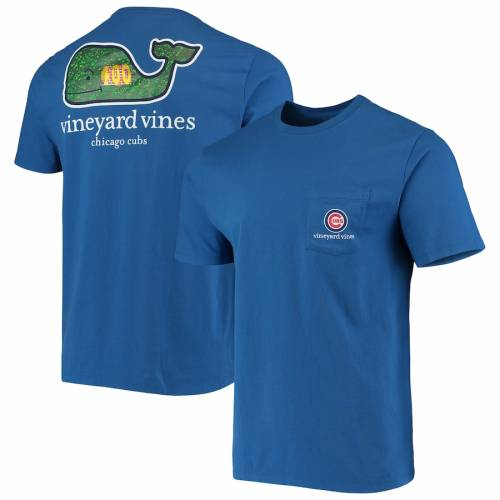 VINEYARD VINES シカゴ カブス Tシャツ メンズファッション トップス カットソー メンズ 【 Chicago Cubs Localized T-shirt - Royal 】 Royal