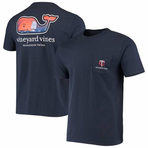 VINEYARD VINES ミネソタ ツインズ Tシャツ 紺 ネイビー メンズファッション トップス カットソー メンズ 【 Minnesota Twins Localized T-shirt - Navy 】 Navy