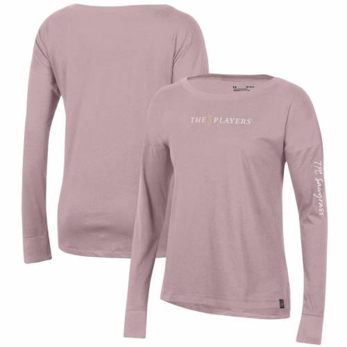アンダーアーマー UNDER ARMOUR レディース パフォーマンス スリーブ Tシャツ ピンク WOMEN'SSLEEVE PINK UNDER ARMOUR THE PLAYERS PERFORMANCE COTTON LONG TSHIRTレディースファッション トップス TシャfvY6by7g