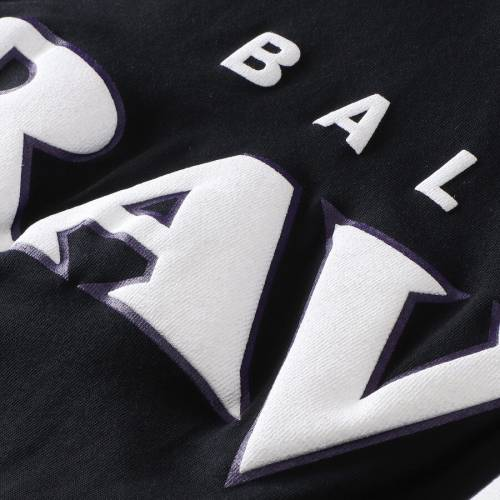 NFL PRO LINE BY FANATICS BRANDED ボルティモア レイブンズ レディース ジャージ ブイネック Tシャツ 黒 ブラック レディースファッション トップス カットソー 【 Baltimore Ravens Womens Spirit Jersey Go