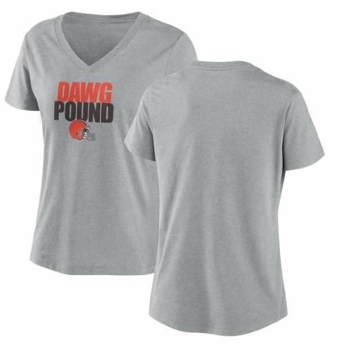 ナイキ NIKE クリーブランド ブラウンズ レディース インパクト ブイネック Tシャツ チャコール レディースファッション トップス カットソー 【 Cleveland Browns Womens Local Impact Tri-blend V-neck