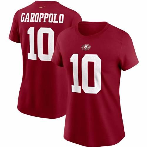 ナイキ NIKE フォーティーナイナーズ レディース チーム Tシャツ レディースファッション トップス カットソー 【 Jimmy Garoppolo San Francisco 49ers Womens Team Player Name And Number T-shirt - Scarlet 】 Sc