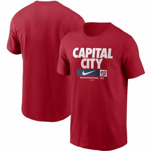 ナイキ NIKE ワシントン ナショナルズ パフォーマンス Tシャツ 赤 レッド メンズファッション トップス カットソー メンズ 【 Washington Nationals Local Nickname Performance T-shirt - Red 】 Red