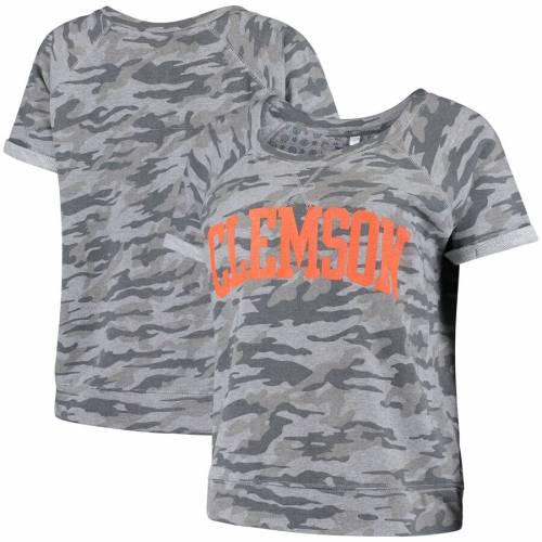 PRESSBOX タイガース レディース Tシャツ レディースファッション トップス カットソー 【 Clemson Tigers Womens Splash French Terry T-shirt - Camo 】 Camo