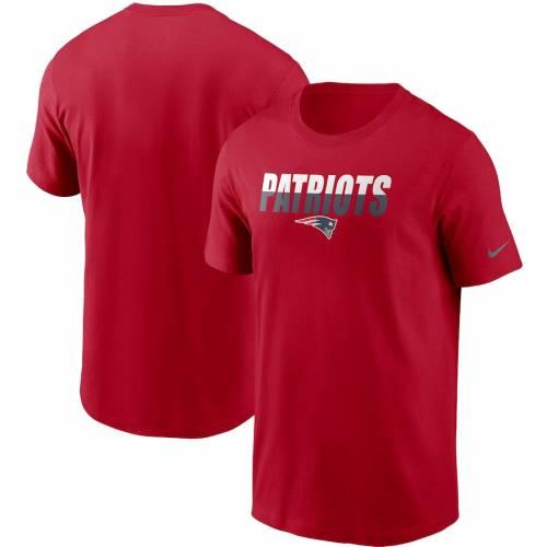 ナイキ NIKE ペイトリオッツ Tシャツ 赤 レッド 【 RED NIKE NEW ENGLAND PATRIOTS SPLIT TSHIRT 】 メンズファッション トップス Tシャツ カットソー