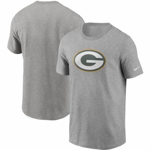ナイキ NIKE 緑 グリーン パッカーズ ロゴ Tシャツ 灰色 グレー グレイ メンズファッション トップス カットソー メンズ 【 Green Bay Packers Primary Logo T-shirt - Heathered Gray 】 Heathered Gray