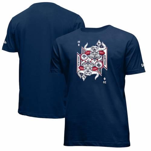 ニューエラ NEW ERA ヒューストン テキサンズ Tシャツ 紺 ネイビー メンズファッション トップス カットソー メンズ 【 Houston Texans 2020 Nfl Draft Card T-shirt - Navy 】 Navy