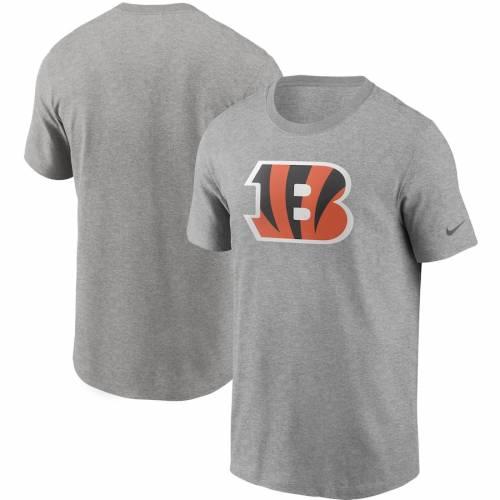 ナイキ NIKE シンシナティ ベンガルズ ロゴ Tシャツ 灰色 グレー グレイ メンズファッション トップス カットソー メンズ 【 Cincinnati Bengals Primary Logo T-shirt - Heathered Gray 】 Heathered Gray