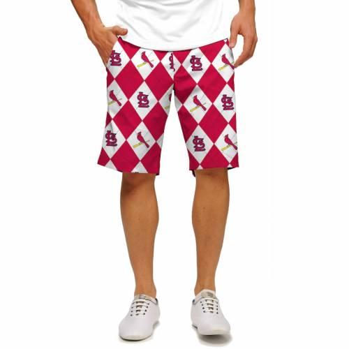 LOUDMOUTH カーディナルス ショーツ ハーフパンツ 赤 レッド ST. 【 RED LOUDMOUTH LOUIS CARDINALS SHORTS 】 メンズファッション ズボン パンツ