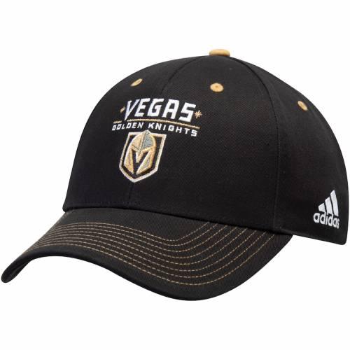 アディダス ADIDAS チーム 黒 ブラック バッグ キャップ 帽子 メンズキャップ メンズ 【 Vegas Golden Knights Team Color Contrast Stitch Lockup Adjustable Hat - Black 】 Black