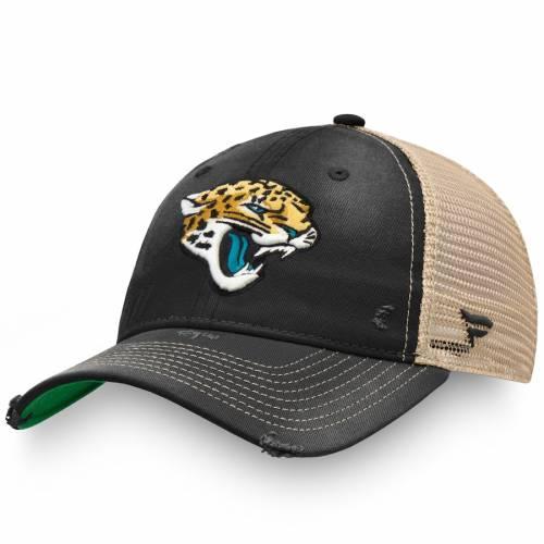 NFL PRO LINE BY FANATICS BRANDED ジャクソンビル ジャガース クラシック トラッカー バッグ キャップ 帽子 メンズキャップ メンズ 【 Jacksonville Jaguars True Classic Adjustable Trucker Hat - Black/natural 】 Bl
